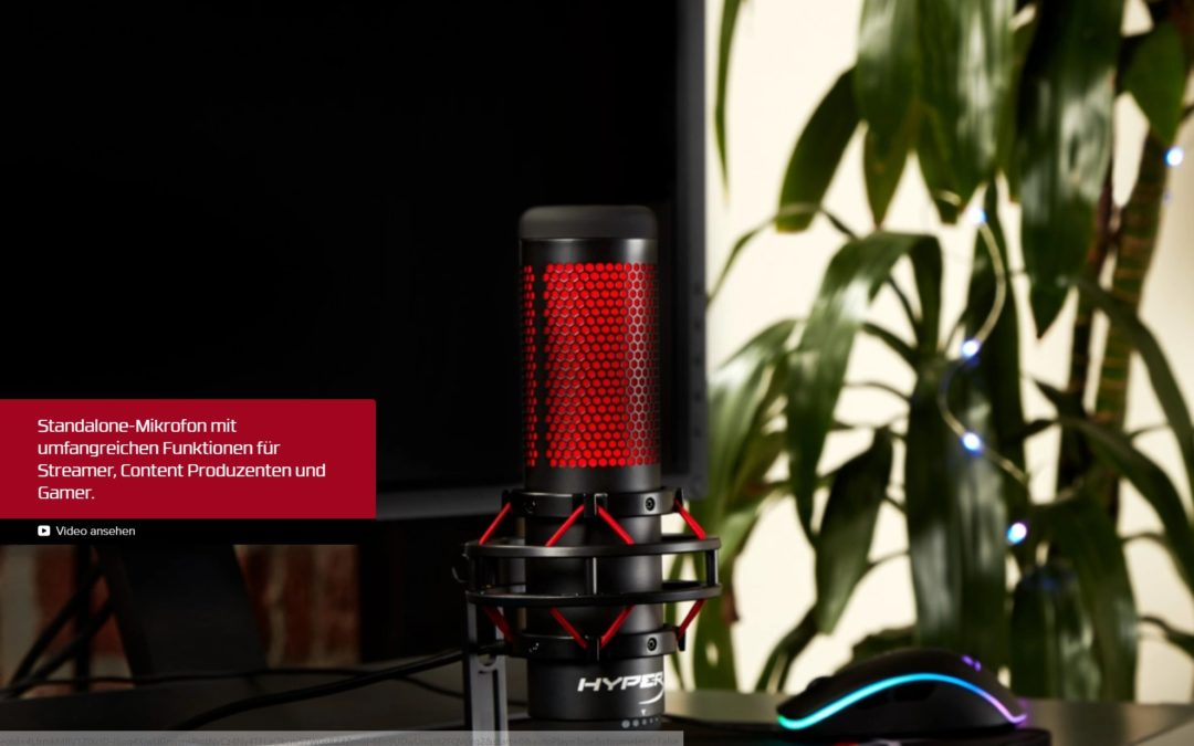 HyperX QuadCast Mikrofon für einen professionellen Start als Streamer
